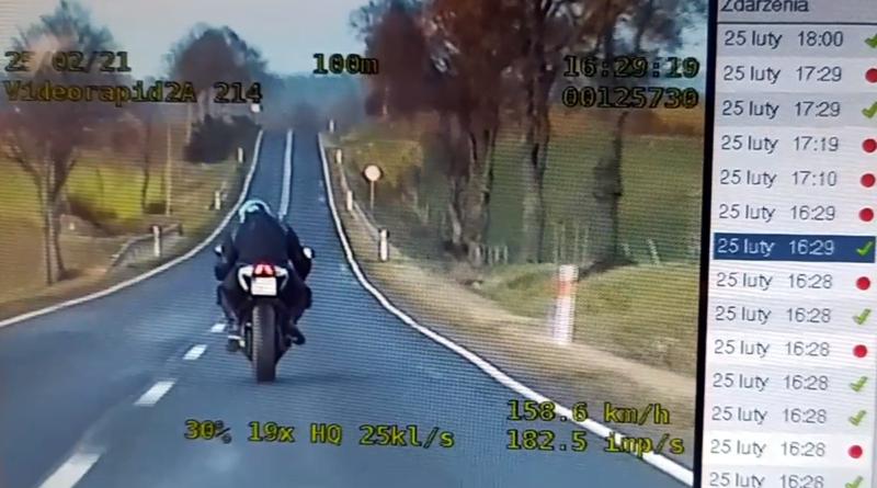 motocyklista z Leszna fot policja