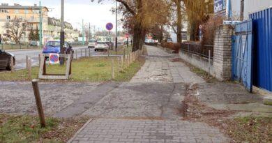 obecna droga rowerowa wzdłuż Grunwaldzkiej fot. PIM