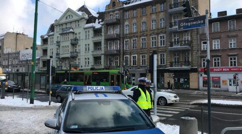 patrol policji na Głogowskiej fot. policja