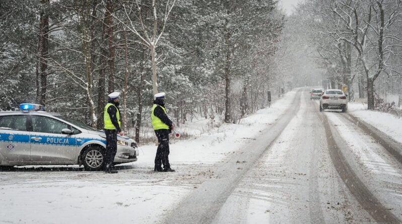 patrol, zima fot. policja Piła