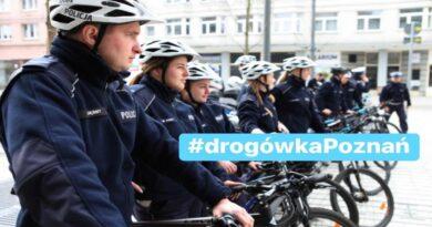 policjanci na rowerach fot. policja Poznań