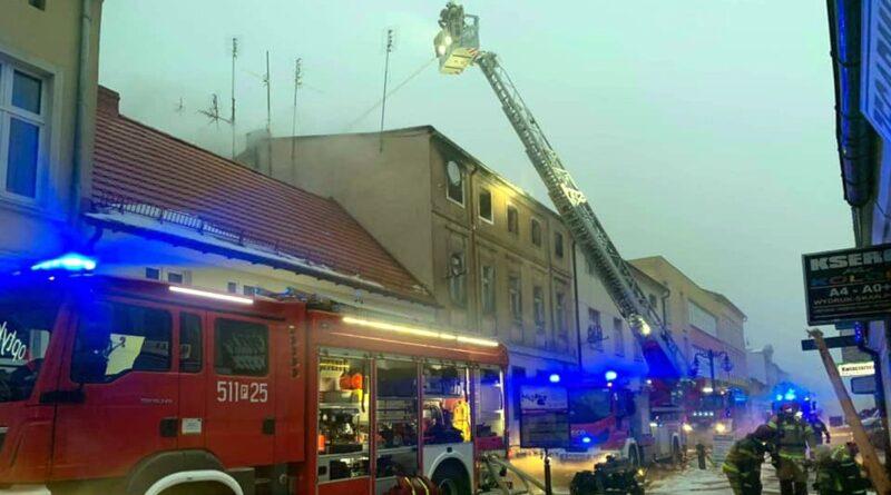 pożar Nowy Tomyśl fot. OSP KSRG Boruja Kościelna
