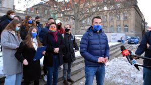protest Wolne Media fot. K. Adamska