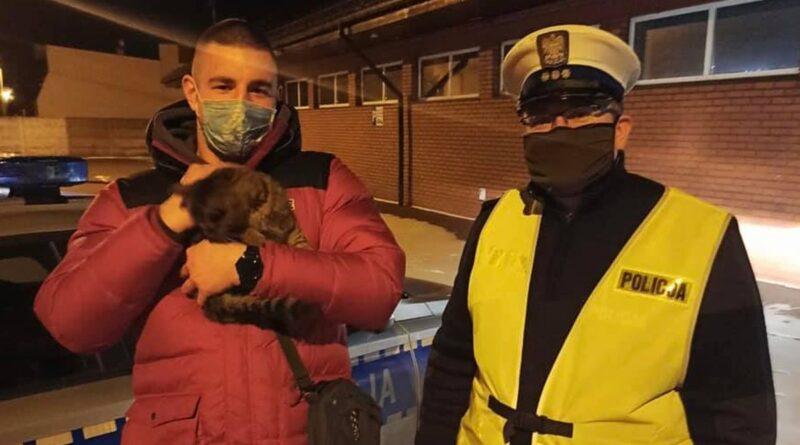 uratowany kot fot. policja Ostrów