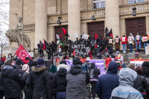 demonstracja z okazji dnia kobiet fot. slawek wachala 5712 300x200 - Poznań: Demonstracja przed Operą. Z okazji Dnia Kobiet