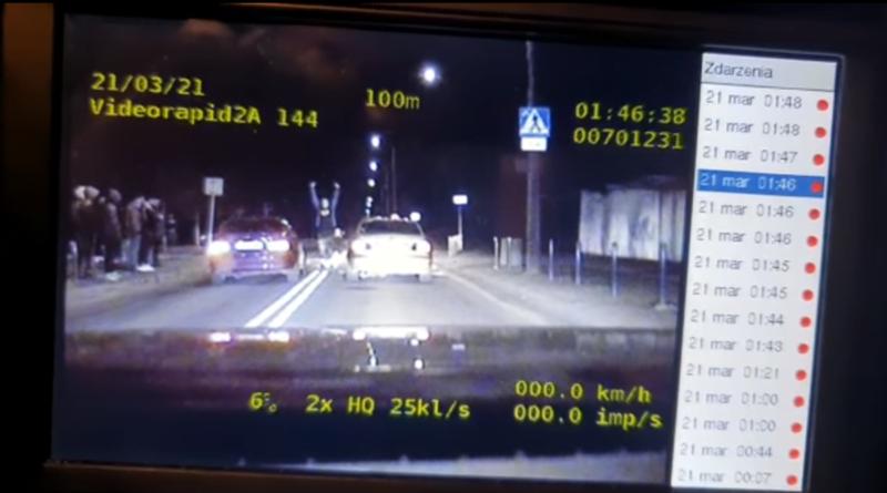 nielegalny wyścig fot. policja