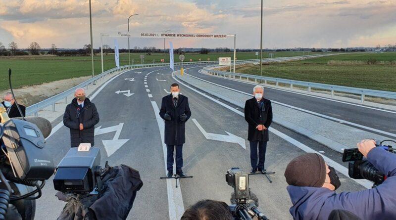Otwarcie obwodnicy Wrześni, premier Mateusz Morawiecki fot. WUW