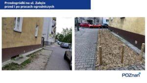 przedogrodki na ul. zaleze fot. ump 300x169 - Poznań: Na Łazarzu powstają przedogródki. Jak wam się podobają?
