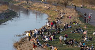 Rzeka Warta wieczór fot. Sławek Wąchała