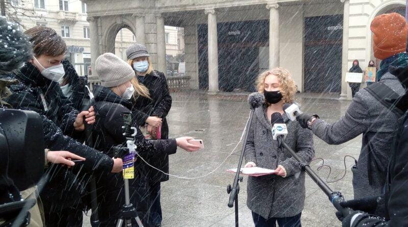 Strajk klimatyczny , plac Wolności fot. L. Łada