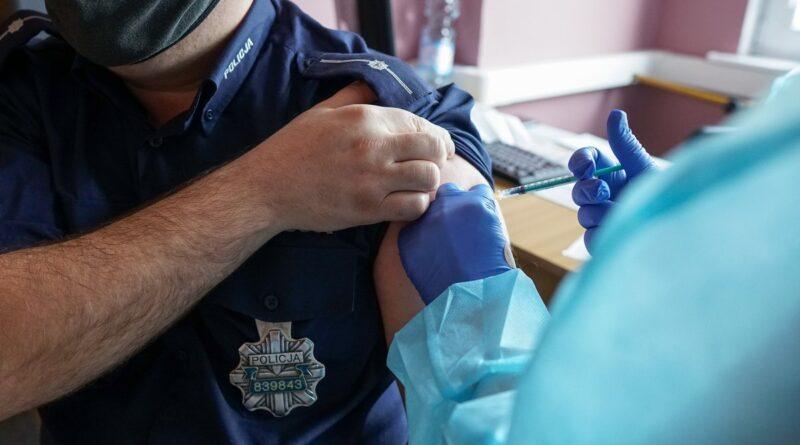 szczepienia policjantów fot. KWP