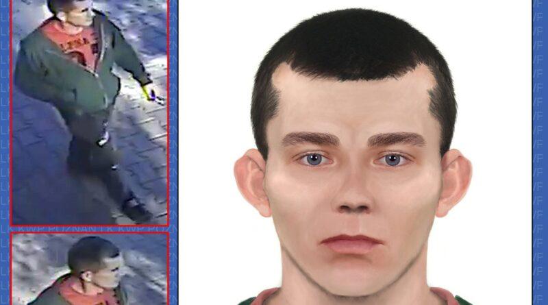wersja wyglądu mężczyzny mogącego mieć związek ze sprawą fot. policja