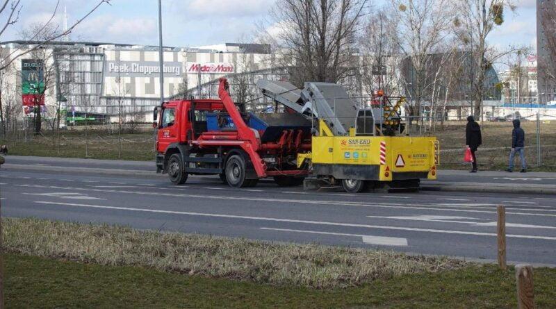 wiosenne sprzątanie ulic fot. ZDM