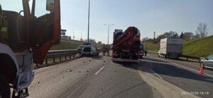 wypadek na A2 fot. policja