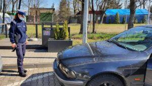 bmw fot. policja 300x169 - Kobylnica: Wyjechał wrakiem wprost na... patrol policji