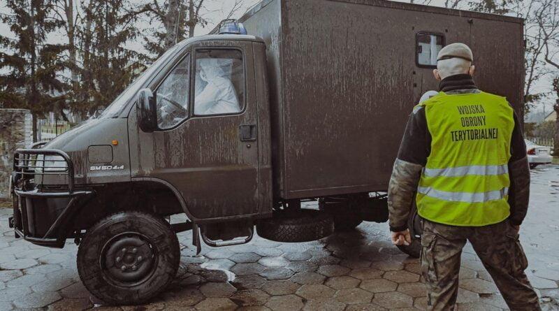 ewakuacja szpitala w Skwierzynie, koronawirus fot. DWOT2