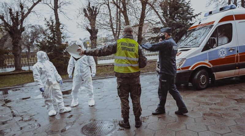 ewakuacja szpitala w Skwierzynie, koronawirus fot. DWOT