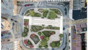 plac cyryla ratajskiego wizualizacja fot. j. bulat2 300x169 - Poznań: Plac Cyryla w kwiatach i bez szczurów