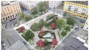 plac cyryla ratajskiego wizualizacja fot. j. bulat3 300x169 - Poznań: Plac Cyryla w kwiatach i bez szczurów