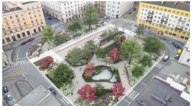 plac Cyryla Ratajskiego, wizualizacja fot. J. Bułat