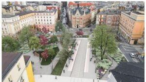 plac cyryla ratajskiego wizualizacja fot. j. bulat4 300x169 - Poznań: Plac Cyryla w kwiatach i bez szczurów