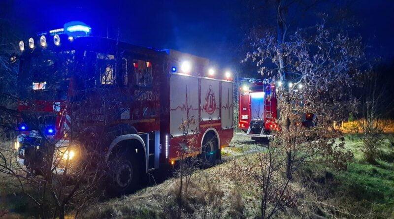 pożar traw fot. OSP Kaczory