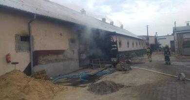 pożar w Perzynach fot. OSP Zbąszyń