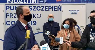 punkt szczepień, Malta, wojewoda Michał Zieliński fot. prt scr