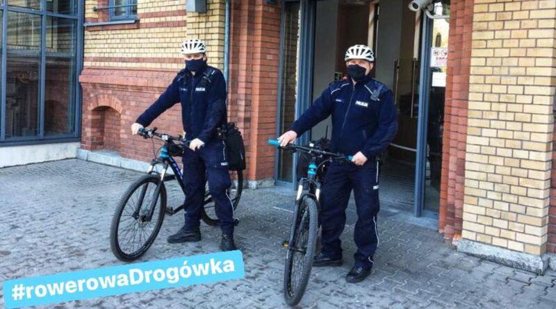 Rowerowa drogówka fot. policja