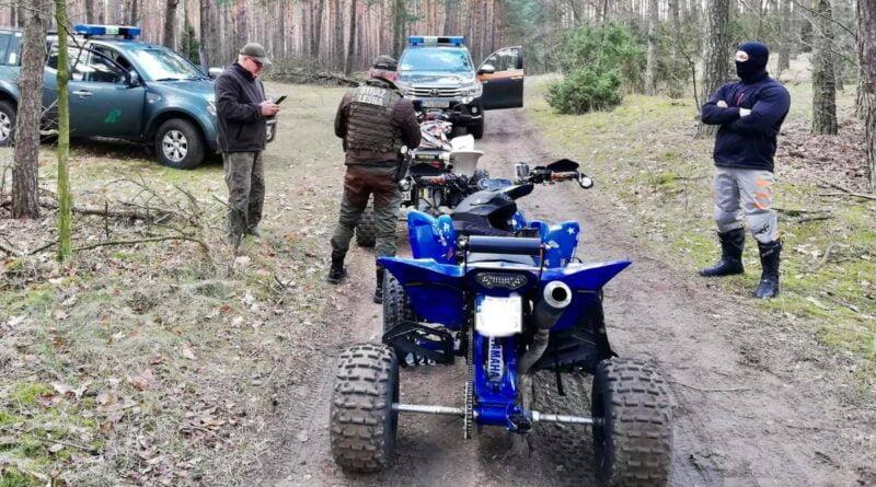 rozjeżdżanie terenów leśnych fot. RDLP