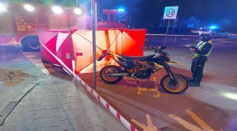 wypadek na moście fot. policja