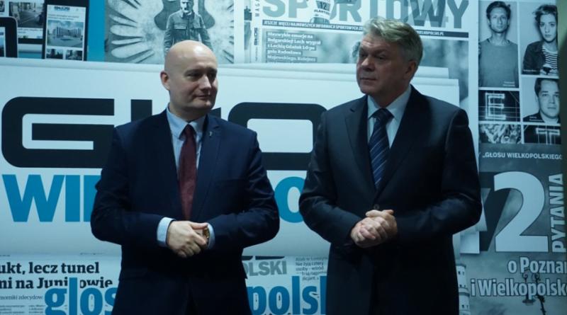 Adam Pawłowski ze Zbigniewem Hoffmannem, byłym wojewodą wielkopolskim fot. WUW