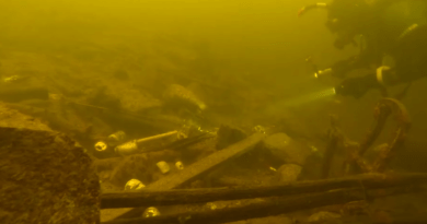 dno jeziora Durowskiego fot. policja Wągrowiec
