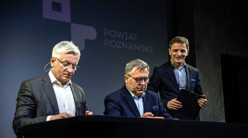Jacek Jaśkowiak, Jan Grabkowski, Przemysław Kieliszewski fot. UMP
