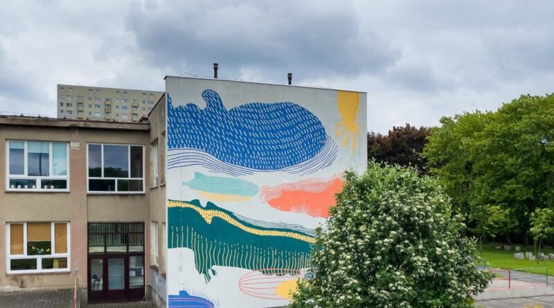 mural na Wichrowym Wzgórzu fot. UMP