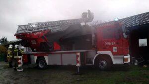 pożar sadzy fot. OSP Ślesin