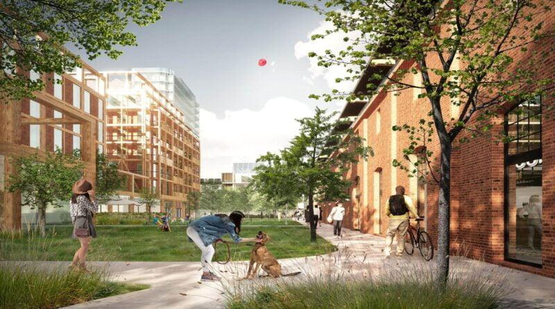 przyszłe osiedle na Łazarzu, park centralny, wizualizacja fot. SUD Architekt Polska