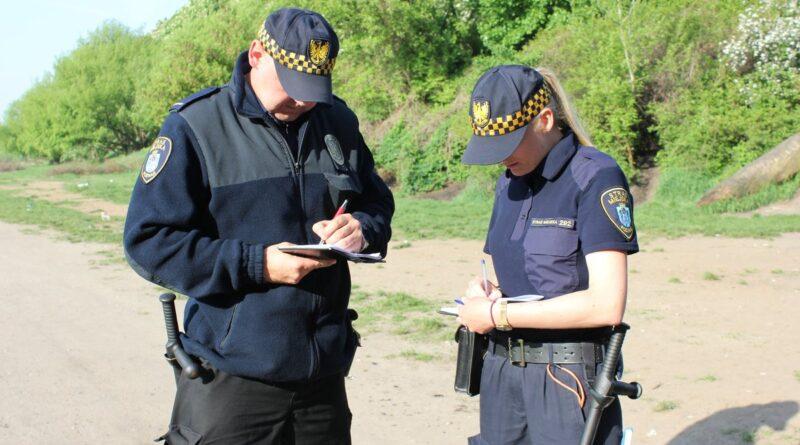 strażnicy miejscy, mandat fot. SMMP