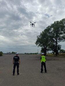 dron fot. policja