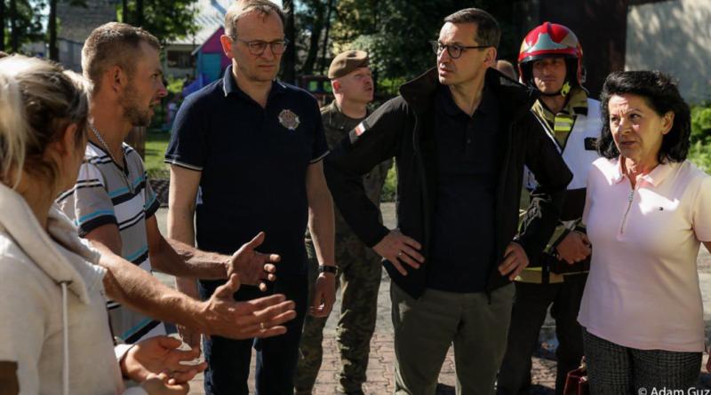Mateusz Morawiecki w Nowej Białej fot. KPRM