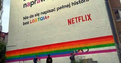 odnawianie muralu na Dąbrowskiego fot. Grupa Stonewall, A. Rydellek