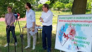Poznań: Kolejne ogródki działkowe mają zniknąć? Działkowcy i mieszkańcy Winiar walczą o ocalenie