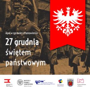 powstaniewlkp apel 05 300x300 - Poznań: Czy 27 grudnia, dzień wybuchu Powstania Wielkopolskiego, powinien być świętem państwowym?