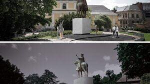 projekt pomnika Przemysła II autorstwa S. Szwechowicza fot. UMP