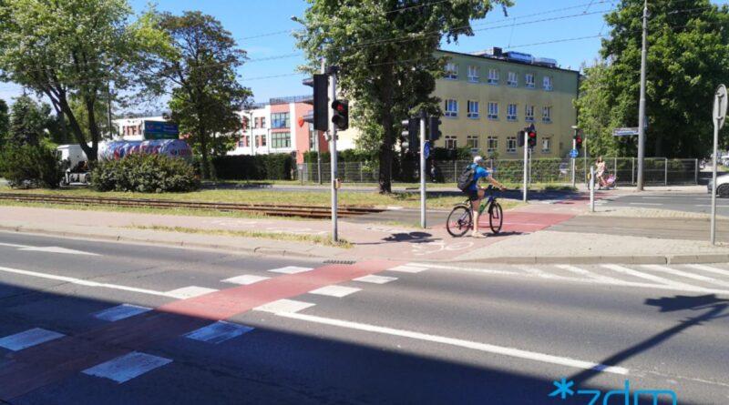 przejście dla pieszych, Przybyszewskiego fot. ZDM