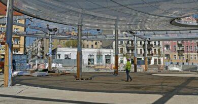 Rynek Łazarski, nowy dach fot. UMP