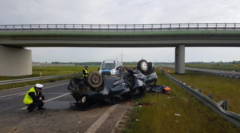 S5 wypadek fot. policja