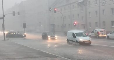 Ulewny deszcz fot. K. Adamska