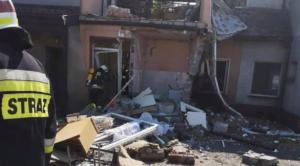 wybuch w Trębaczowie fot. OSP Perzów