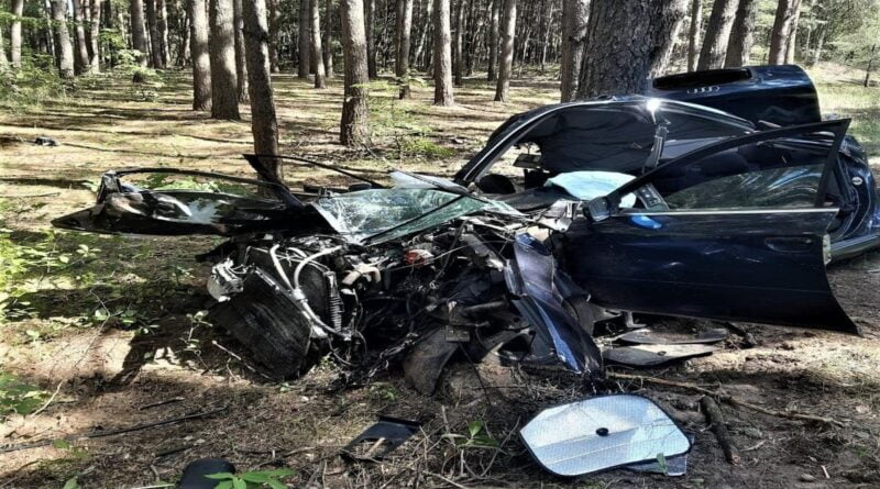 wypadek, Sieraków fot. policja